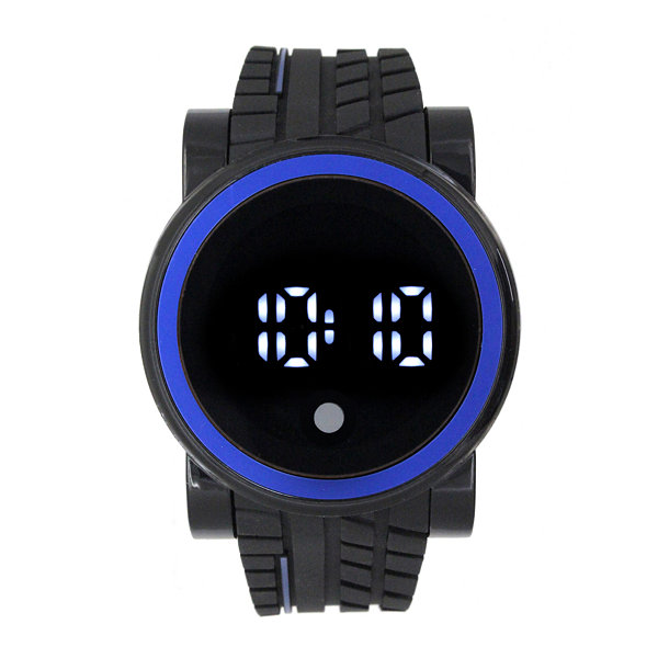 Mens Black Strap Watch-33555
