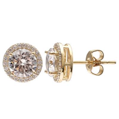 Gold Reflection Stud Earrings