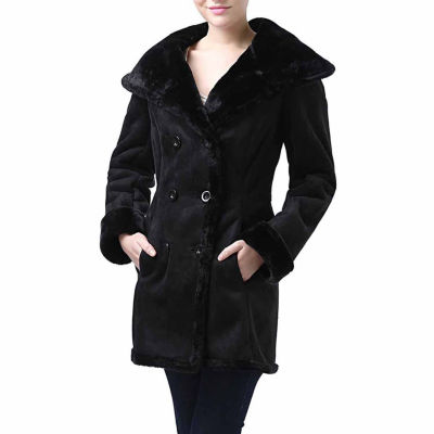 Momo Baby Overcoat Cindy Hooded Faux Shearling Coat