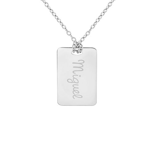 Personalized Sterling Silver Name Dog Tag