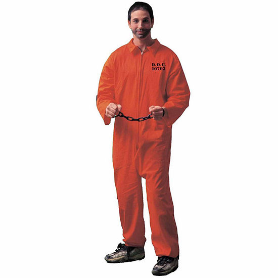 Jumpsuit (Orange) Adult Costume