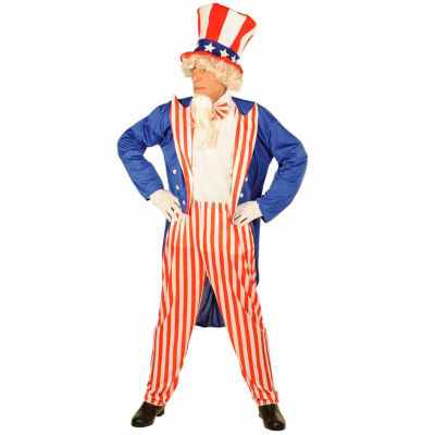 Uncle Sam Adult Costume  -One Size Fits Most