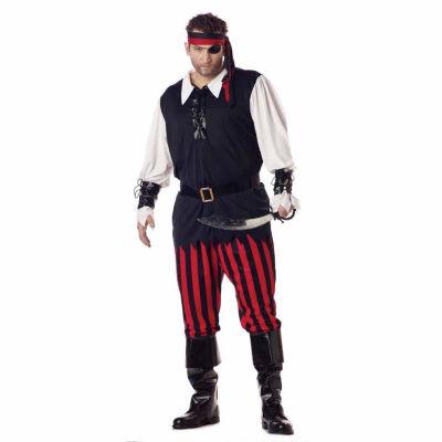 Cutthroat Pirate Adult Plus Costume - Plus (48-52)