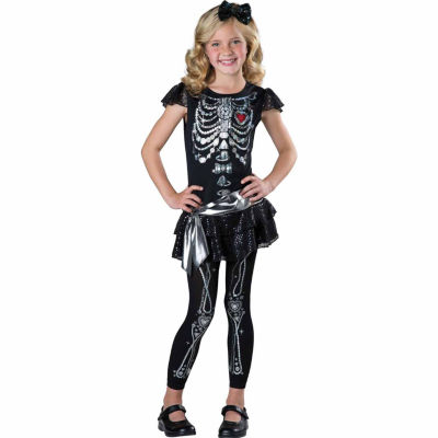 Sparkly Skeleton Child Costume
