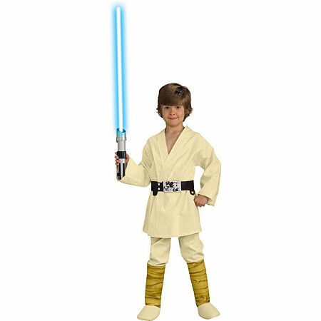 Star Wars Luke Skywalker Deluxe Child Costume, Medium (8/10) , Brown