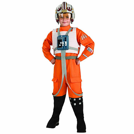 Star Wars X-Wing Fighter Pilot Child Costume, Small (6/7) , Orange