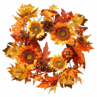 National Tree Co. 22 Inch Sunflower Pumpkin Wreath