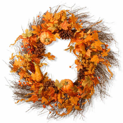National Tree Co. 28 Inch Pumpkin Wreath