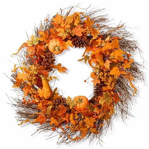 National Tree Co. 28 Inch Pumpkin Wreath