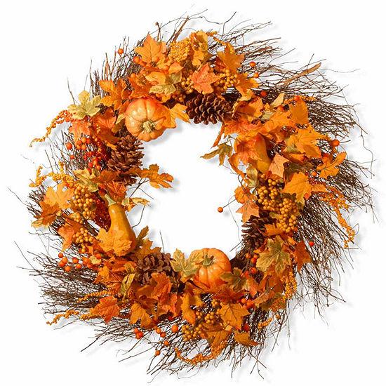 National Tree Co 28 Inch Pumpkin Wreath