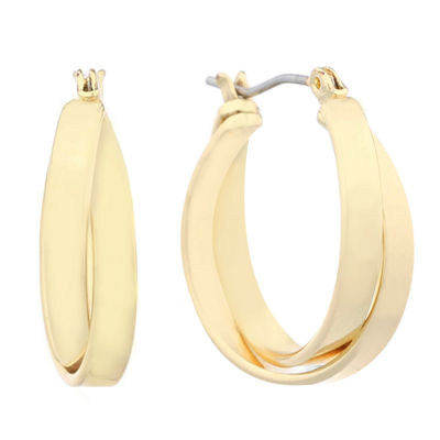 Gloria Vanderbilt Brass 22mm Hoop Earrings
