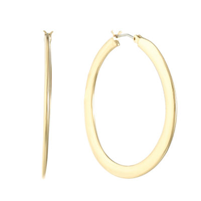 Gloria Vanderbilt Brass 47mm Hoop Earrings