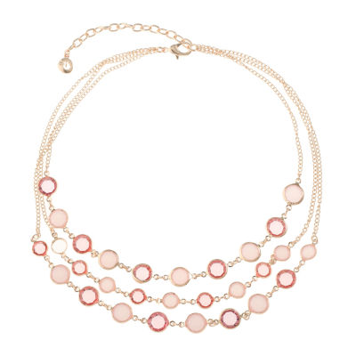Gloria Vanderbilt Womens Brass Beaded Necklace