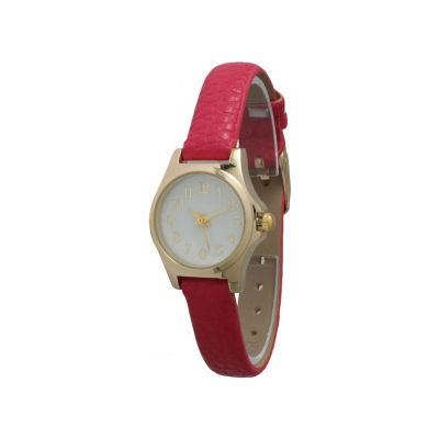 Olivia Pratt Petite Womens Red Strap Watch-14164red