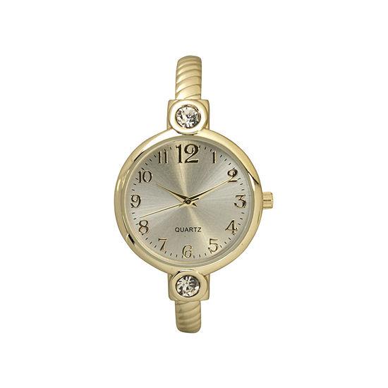Olivia Pratt Womens Gold Tone Bangle Watch-80006gold