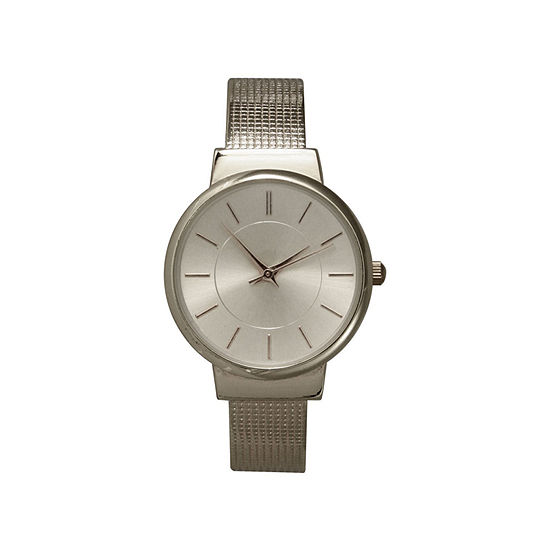 Olivia Pratt Womens Silver Tone Strap Watch-27011silver