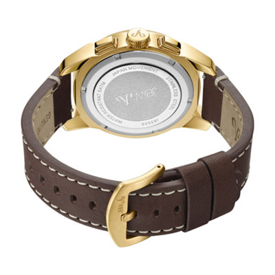 JBW Diamond Mens Brown Strap Watch-J6352b