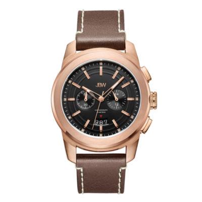 JBW Diamond Mens Brown Strap Watch-J6352e