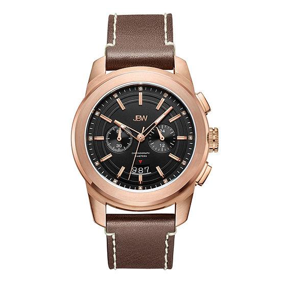 JBW Diamond Mens Brown Stainless Steel Strap Watch-J6352e