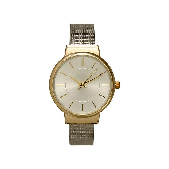 Olivia Pratt Womens Two Tone Strap Watch-27011twotone
