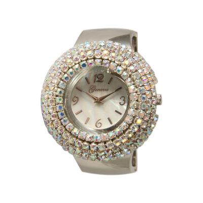 Olivia Pratt Silver Tone Cuff Watch-11371silver