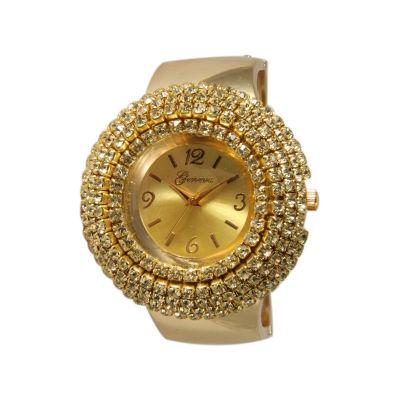 Olivia Pratt Womens Gold Tone Strap Watch-11371gold
