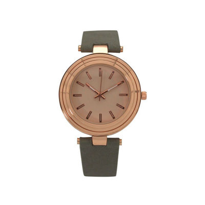 Olivia Pratt Womens Gray Strap Watch-16782greyrose