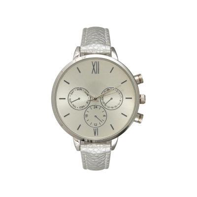 Olivia Pratt Womens Brown Strap Watch-16674darkbrowngold