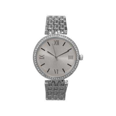 Olivia Pratt Womens Silver Tone Bracelet Watch-14796silver