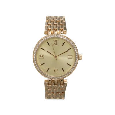 Olivia Pratt Womens Gold Tone Strap Watch-14796gold