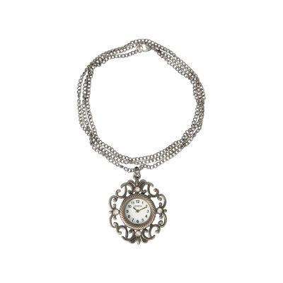 Olivia Pratt Womens Gray Strap Watch-20009gunmetal