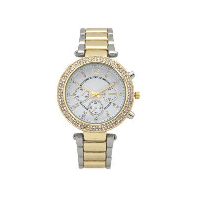 Olivia Pratt Womens Two Tone Bracelet Watch-15899twotone
