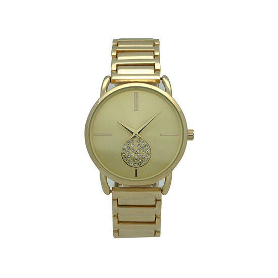 Olivia Pratt Womens Gold Tone Strap Watch-17474gold
