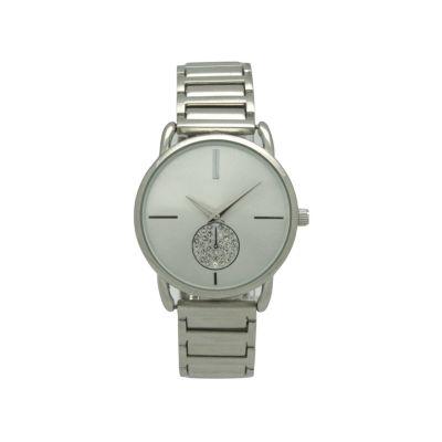 Olivia Pratt Womens Silver Tone Bracelet Watch-17474silver