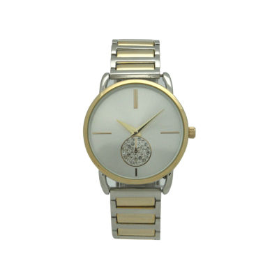 Olivia Pratt Womens Two Tone Strap Watch-17474twotone
