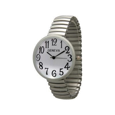 Olivia Pratt Womens Silver Tone Strap Watch-20108silver