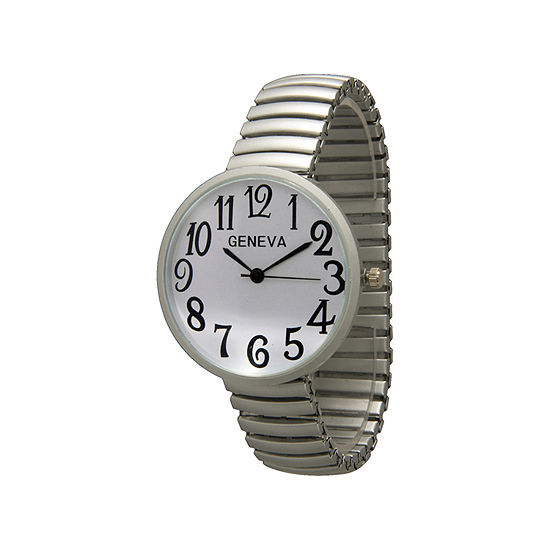 Olivia Pratt Womens Silver Tone Expansion Watch-20108silver