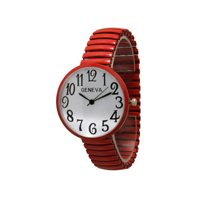 Olivia Pratt Womens Gold Tone Expansion Watch-20108red