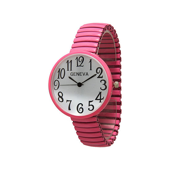Olivia Pratt Womens Two Tone Strap Watch-20108pink