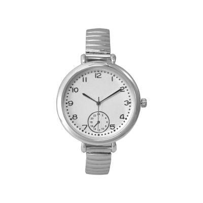 Olivia Pratt Womens Silver Tone Strap Watch-15541silver