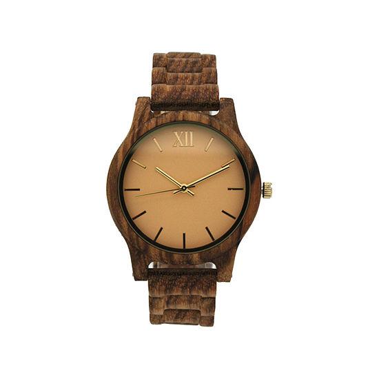 Olivia Pratt Womens Brown Strap Watch-A917397lightbrown