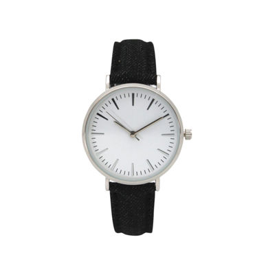 Olivia Pratt Denim Womens Black Strap Watch-17441black