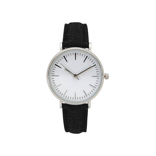 Olivia Pratt Denim Womens Black Strap Watch 17441black
