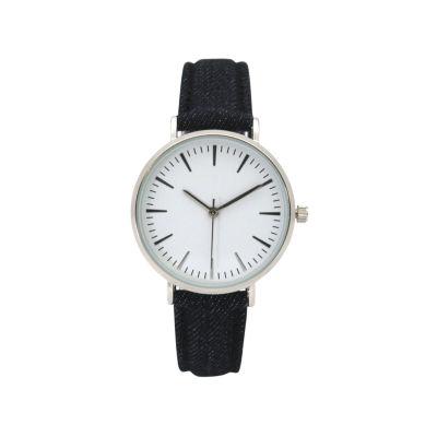 Olivia Pratt Denim Womens Blue Strap Watch-17441navy