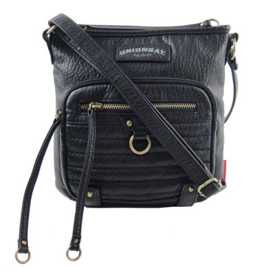 Unionbay Quilted Front Zip Crossbody Bag