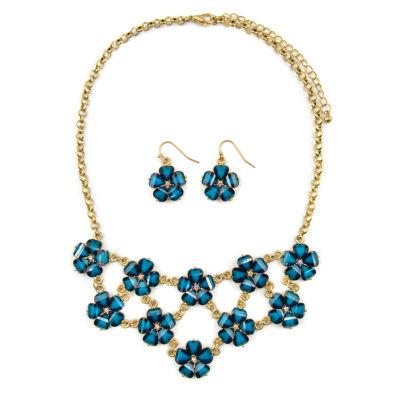 Mixit Womens 3-pc. Clear Necklace Set