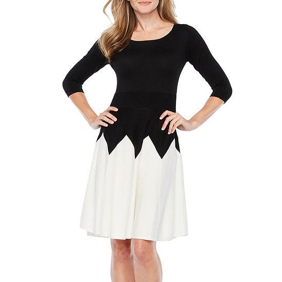 5eb680df92 Danny   Nicole 3 4 Sleeve Sweater Dress - JCPenney