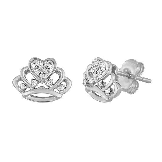Diamond Accent Genuine White Diamond 7.1mm Stud Earrings