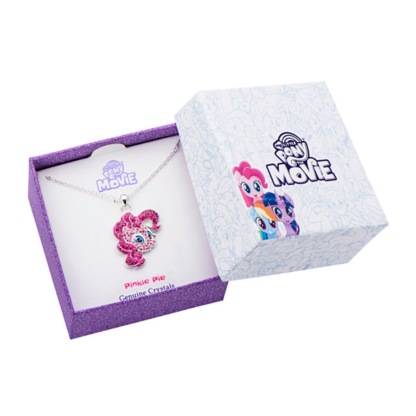 Womens My Little Pony Pink Crystal Brass Pendant Necklace