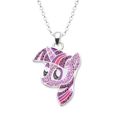 Womens My Little Pony Multi-Color Brass Pendant Necklace